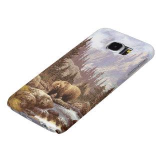 Cajas de la galaxia S6 de Samsung del paisaje del