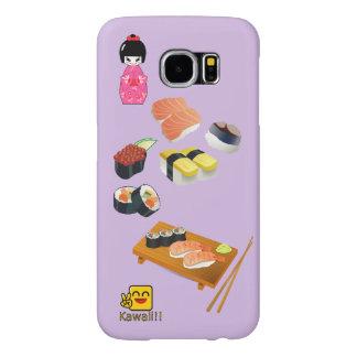 Cajas de la galaxia S6 de Samsung del sushi de Fundas Samsung Galaxy S6