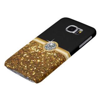 Cajas de la galaxia S6 del monograma Fundas Samsung Galaxy S6