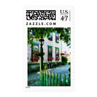Cajas de la lámpara y de ventana sellos postales