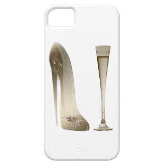 Cajas de la mota del arte del zapato del estilete iPhone 5 carcasas