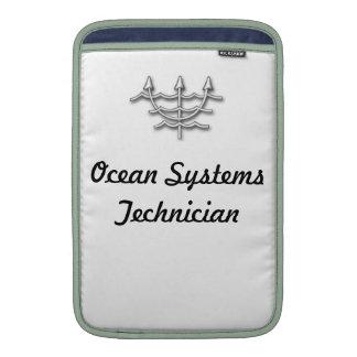 Cajas de los sistemas del océano por OHP Fundas Macbook Air