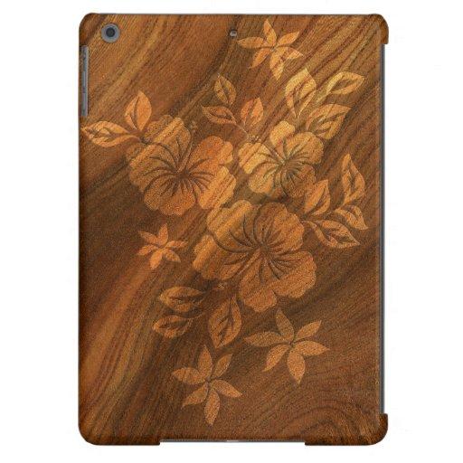 Cajas de madera hawaianas del aire del iPad del