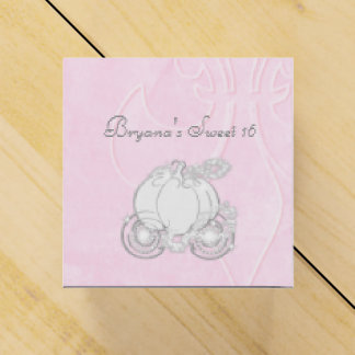 Cajas de plata del favor de fiesta del rosa del caja para regalos