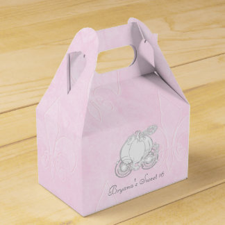 Cajas de plata del favor de fiesta del rosa del cajas para detalles de boda