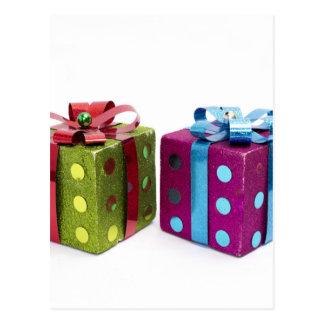 cajas de regalo coloridas de la diversión tarjetas postales
