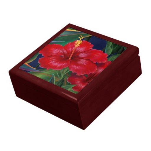 Cajas de regalo hawaianas del hibisco del paraíso