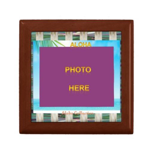 Cajas de regalo personalizadas ~ de la hawaiana joyero cuadrado pequeño