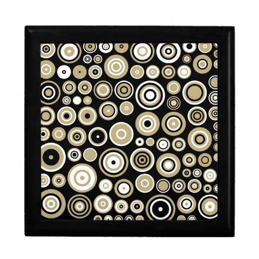 Cajas de regalo retras del arte abstracto del mode joyero cuadrado grande
