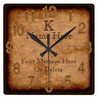 Cajas de texto personalizadas del reloj 3 del
