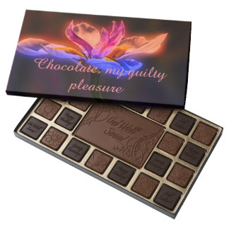 Cajas del chocolate, placer culpable caja de bombones variados con 45 piezas