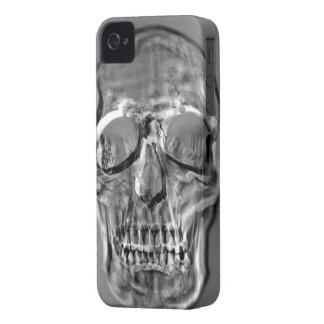 Cajas del cráneo del metal iPhone 4 funda