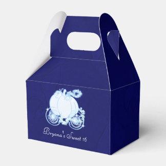 Cajas del favor de fiesta del carro del azul real caja para regalos