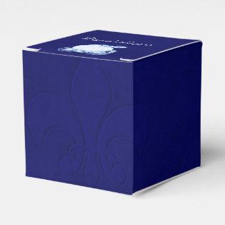 Cajas del favor de fiesta del carro del azul real cajas para detalles de boda