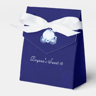Cajas del favor de fiesta del carro del azul real cajas para regalos