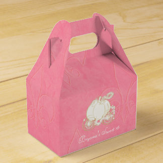 Cajas del favor de fiesta del rosa del carro del caja para regalos