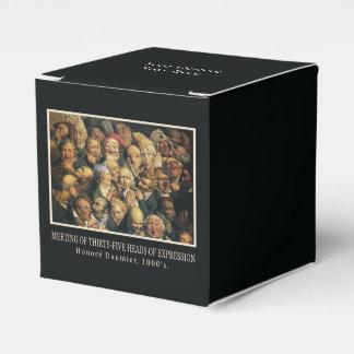 Cajas del favor de las expresiones de Daumier Caja Para Regalos