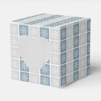Cajas del favor de los copos de nieve cajas para regalos de fiestas