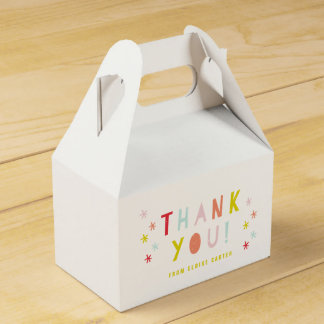 Cajas del favor del golpe del confeti caja para regalos de fiestas