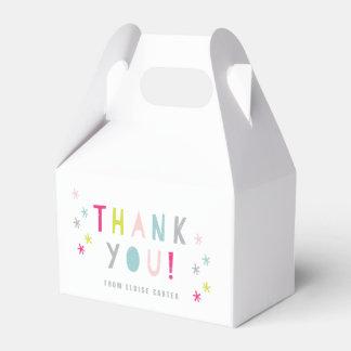 Cajas del favor del golpe del confeti cajas para detalles de boda