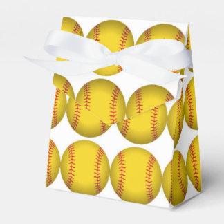 Cajas del favor del softball cajas para detalles de boda