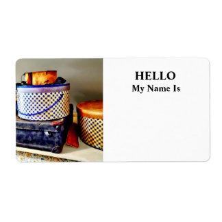 Cajas del gorra de SQ_VintageHatBoxesVintage Etiquetas De Envío