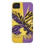 Cajas del teléfono de la flor de lis del tigre iPhone 4 fundas