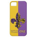 Cajas del teléfono de la flor de lis del tigre iPhone 5 protectores