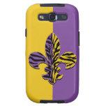 Cajas del teléfono de la flor de lis del tigre samsung galaxy s3 coberturas