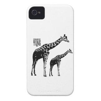 Cajas del teléfono de la jirafa iPhone 4 Case-Mate funda