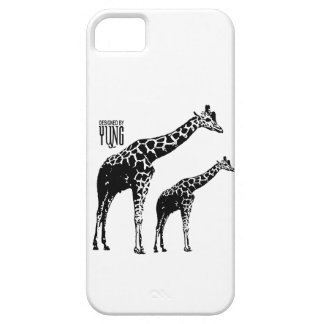 Cajas del teléfono de la jirafa iPhone 5 fundas