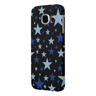 Cajas del teléfono de las estrellas azules fundas samsung galaxy s6
