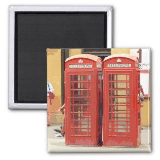 Cajas del teléfono de Londres Imán Cuadrado