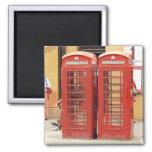 Cajas del teléfono de Londres Iman De Frigorífico