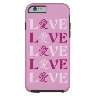 Cajas del teléfono del amor del kanji funda resistente iPhone 6