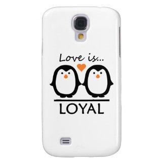 Cajas del teléfono del amor del pingüino carcasa para galaxy s4