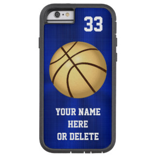 Cajas del teléfono del baloncesto del azul y del funda para  iPhone 6 tough xtreme