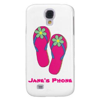 Cajas del teléfono del boda de playa: Diseño del f Funda Para Galaxy S4