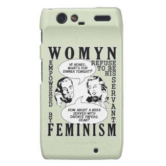 Cajas feministas retras del teléfono del humor droid RAZR fundas