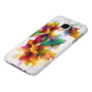 Cajas florales coloridas de la galaxia S6 de Fundas Samsung Galaxy S6