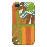 Cajas florales del teléfono del extracto del art d iPhone 4 protector