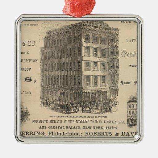 Cajas fuertes del campeón de la patente del adorno navideño cuadrado de metal