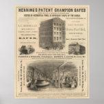 Cajas fuertes del campeón de la patente del arenqu póster