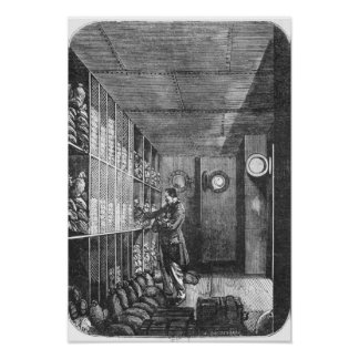 Cajas fuertes en el banco de Francia en París, 189 Póster