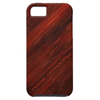 Cajas gastadas de la mota de madera 1 iPhone 5 carcasas