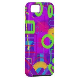 Cajas geométricas abstractas coloridas brillantes iPhone 5 carcasas