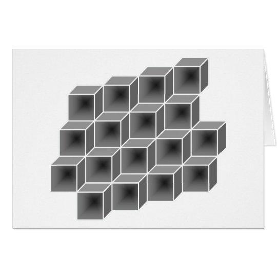 cajas geométricas tarjeta de felicitación