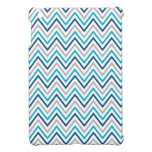 Cajas grises de Chevron de la aguamarina de la mar iPad Mini Cárcasas