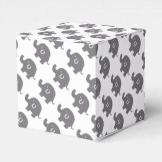Cajas grises y blancas del elefante lindo del cajas para regalos