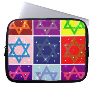Cajas impermeables del ordenador portátil judío de fundas portátiles